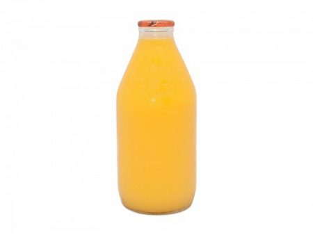 orange-juice in glass bottle
